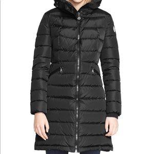 Moncler Long Down Coat Black